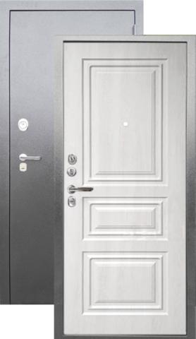 Сейф-дверь входная Аргус Люкс ДА-91, 2 замка, 2 мм  металл, (серебро антик+филадельфия крем)