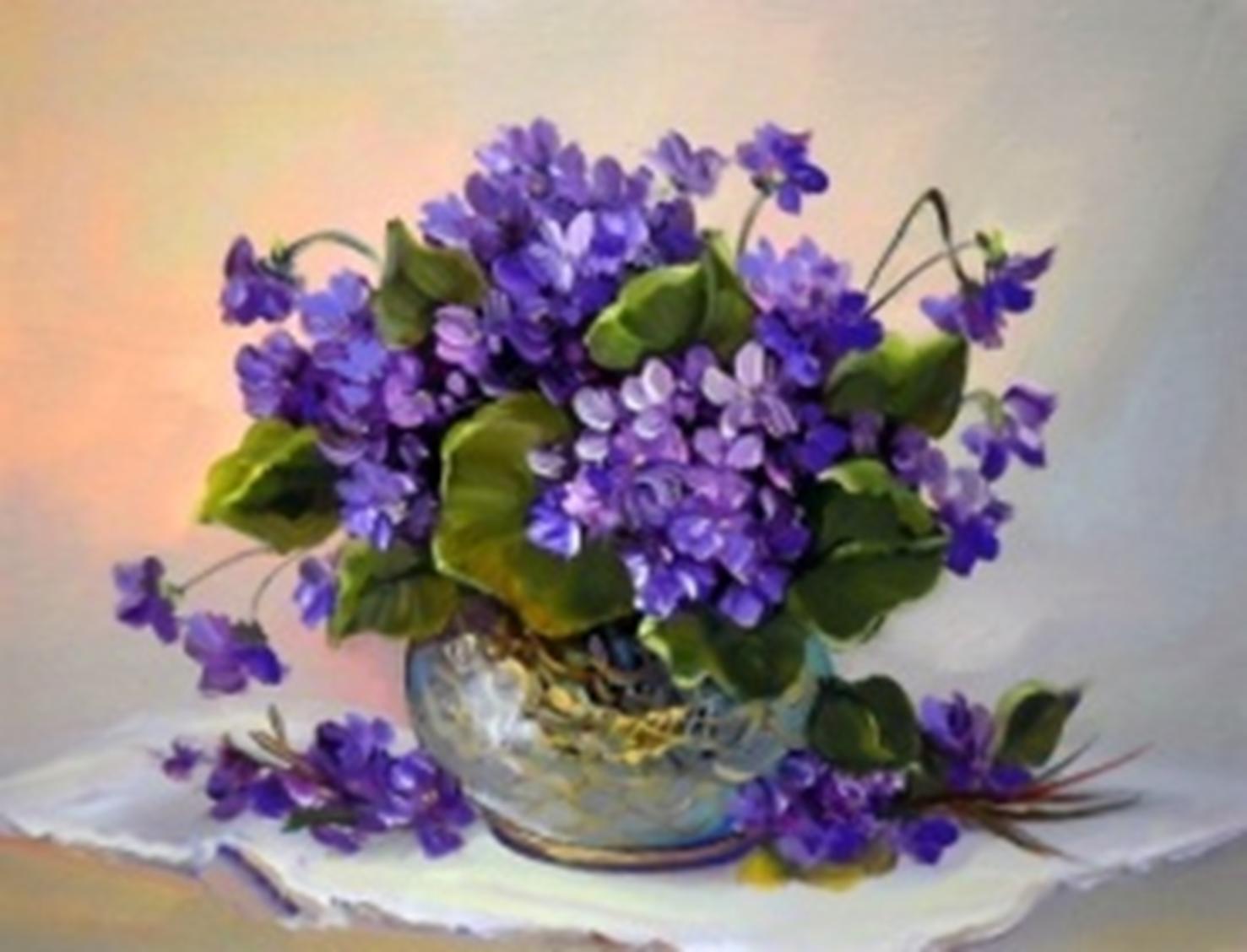 Картина раскраска по номерам 30x40 Цветы в вазе на белой ...