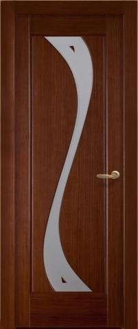 Дверь Лора ПО (тёмный орех, остекленная шпонированная), фабрика LiGa