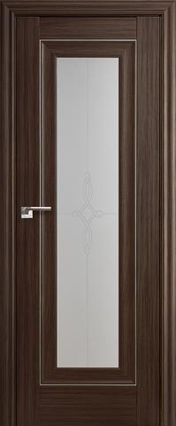 Дверь Profil Doors №24Х, стекло узор, цвет натвуд натинга, остекленная