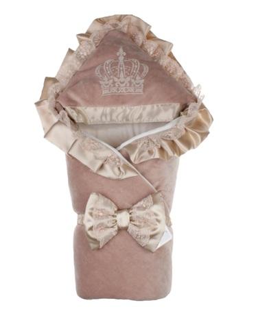 Зимний конверт на выписку Excellent велюр шоколад
