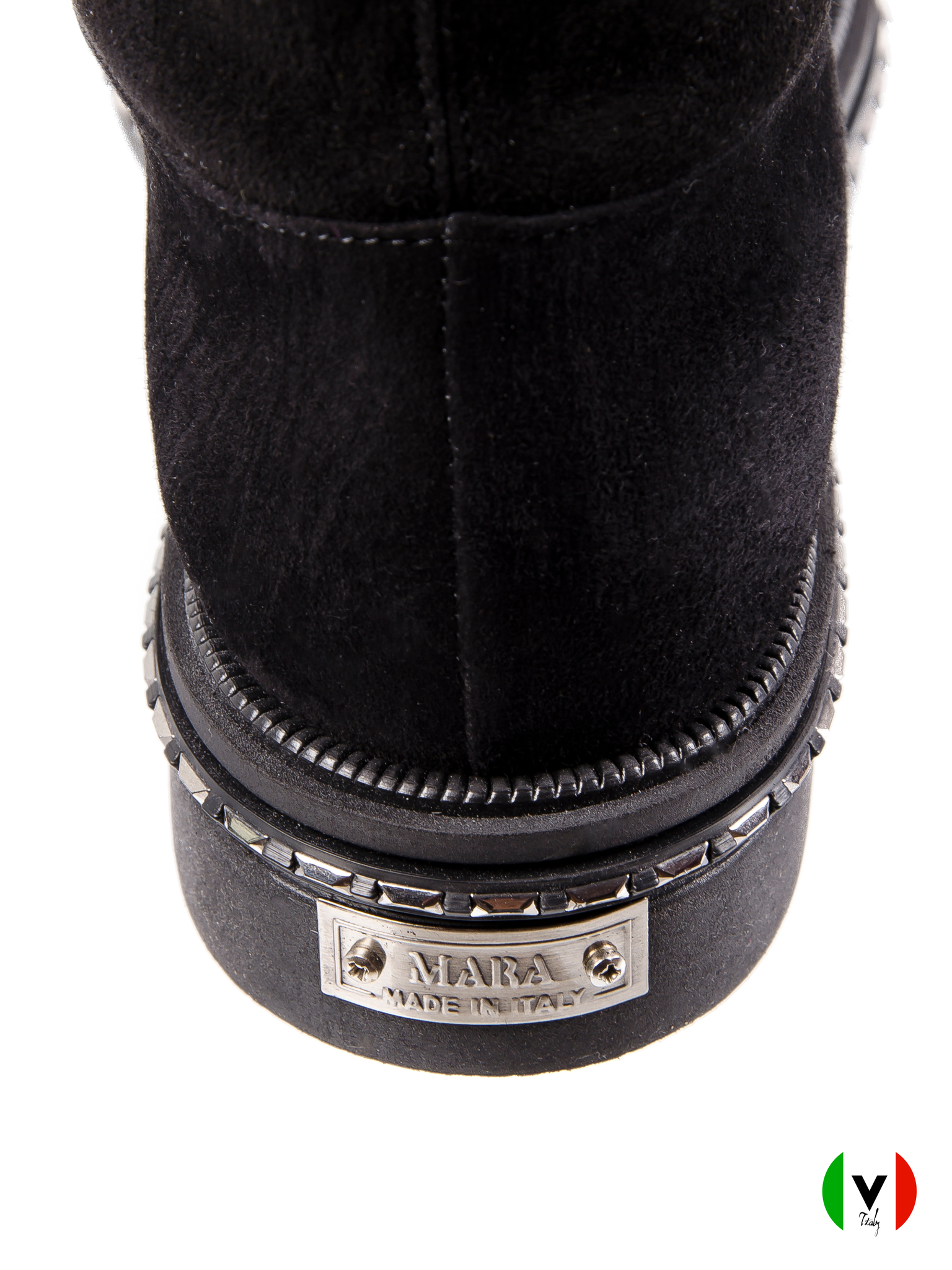 Ботинки Mara, артикул 683-зима-замша, сезон зима, цвет чёрный, материал кожа, цена 23 500 руб., veroitaly.ru