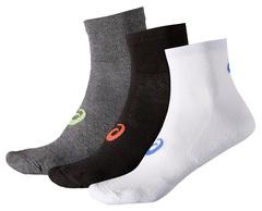 Носки беговые Asics 3PPK Quarter Sock унисекс 128065 0040 разноцветные