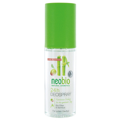 NEOBIO дезодорант спрей 24 часа с био-оливой и бамбуком