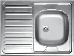 Мойка КромРус S-220 для кухни из нержавеющей стали, левая