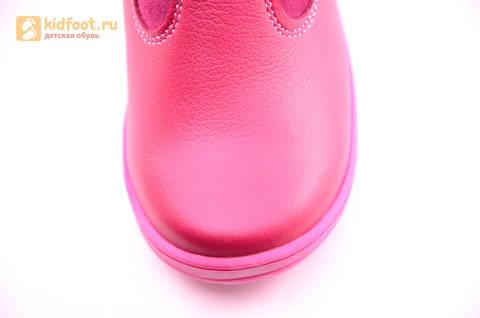 Сапоги для девочек из натуральной кожи на байковой подкладке Лель (LEL), цвет брусника. Изображение 9 из 16.