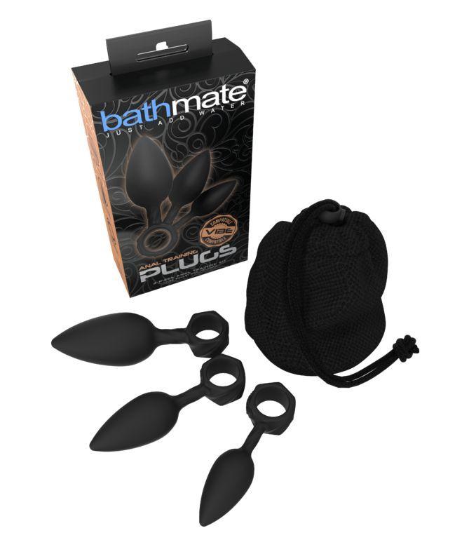 Набор анальных плагов Bathmate Anal Training Plugs, силикон, чёрный