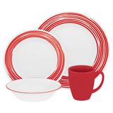 Набор посуды Brushed Red 16 пр, артикул 1117028, производитель - Corelle