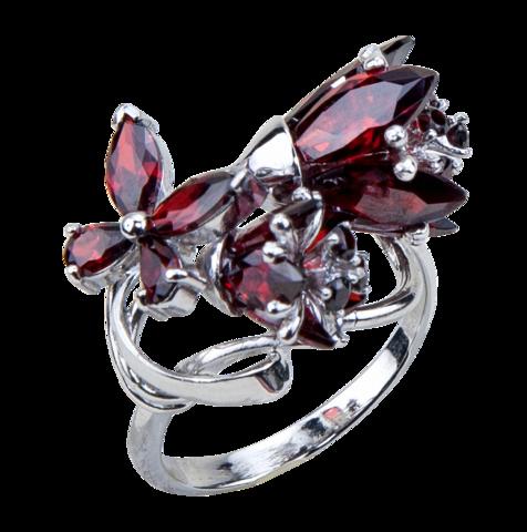 Кольцо с тюльпанами из циркония Арт. К1192