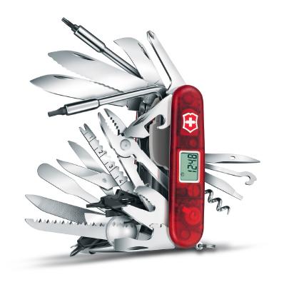 Нож Victorinox SwissChamp XAVT, 91 мм, 81 функция, красный (подарочная упаковка)