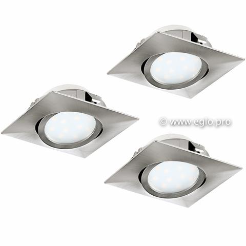 Комплект светильников светодиодных встраиваемых регулируемых Eglo PINEDA 95846