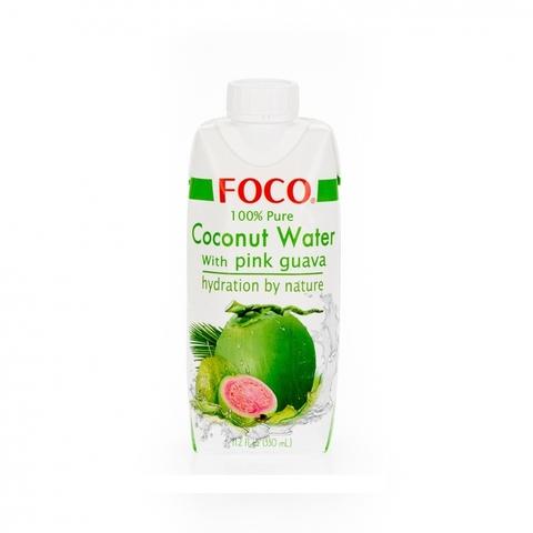 Кокосовая вода с соком розовой гуавы FOCO 330 мл Tetra Pak