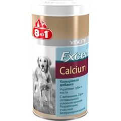 8 in 1 Excel Calcium кальциевая добавка для щенков и взрослых собак 155 таб.