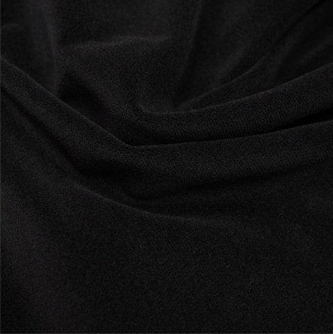 Бархат негорючий черный, ширина - 150 см., 380 гр./м2. арт. BR/9VN