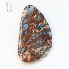 Подвеска Яшма Императорская (прессов.,тониров), цвет - синий, 36-52 мм
