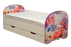 Кровать детская с фотопечатью Тачки