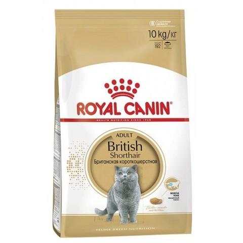 Royal Canin British Shorthair Adult сухой корм для британских короткошерстных кошек от 12 мес 10 кг