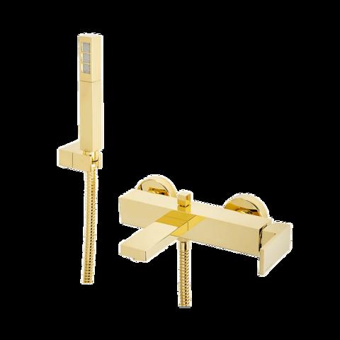 Смеситель Migliore Kvant Gold 25391 для ванны с ручным душем, золото