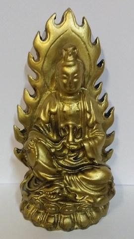 Будда Амитаюс в ореоле - Божество долгой жизни, полистоун 11 см