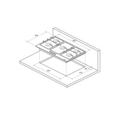 Варочная панель Kuppersberg FV9TGRZ ANT Bronze - схема