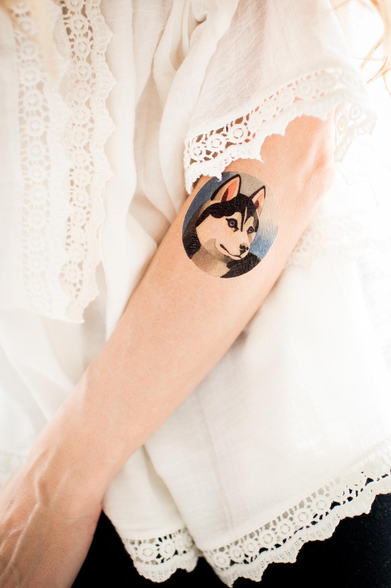 Переводная татуировка Husky