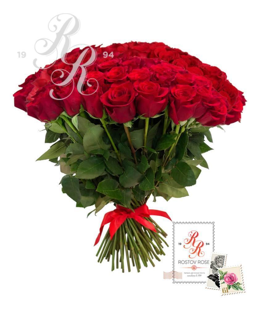 Букет 101 красная роза (Эквадор)