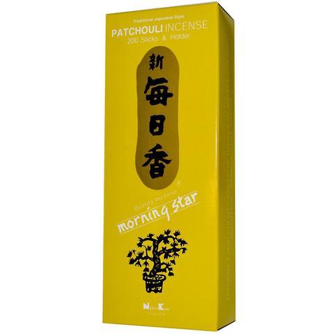 Японские благовония Morning Star Patchouli 200 шт