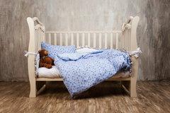 Детское постельное белье German Grass Kinder голубое