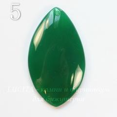 Подвеска Агат, цвет - зеленый, 43-59 мм