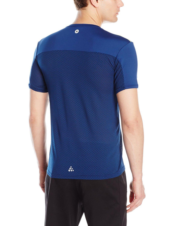 Мужская профессиональная беговая футболка Craft Focus Mesh Tee (1903960-2381) синяя