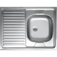 Мойка КромРус EC-220 для кухни из нержавеющей стали, левая