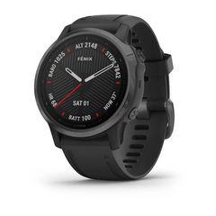 Мультиспортивные часы Garmin Fenix 6S Sapphire- серый DLC с черным ремешком 010-02159-25