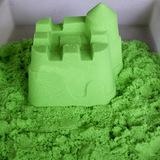 Космический песок 1 кг, зеленый 4