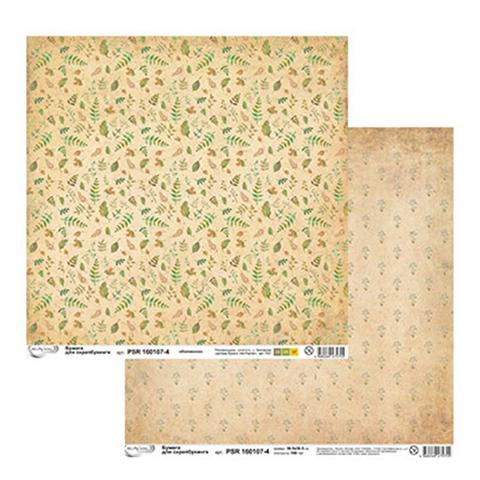 Бумага для скрапбукинга, серия «Ботаника» № 4