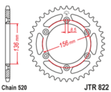 Звезда задняя Suzuki RGV DR JTR 822.44