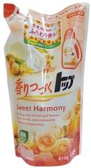 Жидкость для стирки белья,  Lion, Top Sweet Harmony,  цветы, сменный блок,  810 гр
