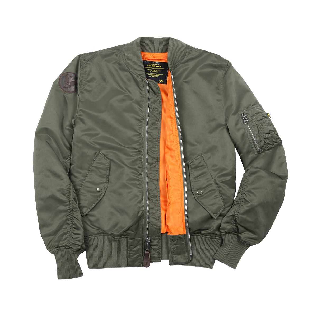 Куртка пилот - Burnett Alpha (олива - s.green)