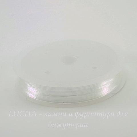 Леска - стрейч прозрачная для браслетов, 0,8 мм, 5 м