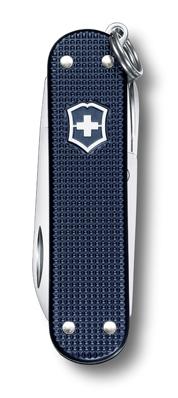 Нож-брелок Victorinox Classic Alox, 58 мм, 5 функ, синий  (0.6221.L15)