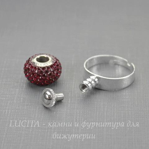 Основа для кольца Пандора (цвет - серебро)