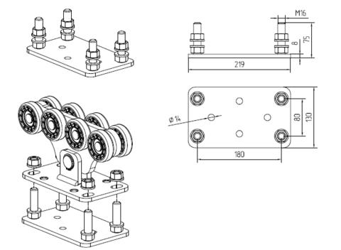 Подставка регулировочная AlutechSGN02.200(Беларусь) до 700 кг