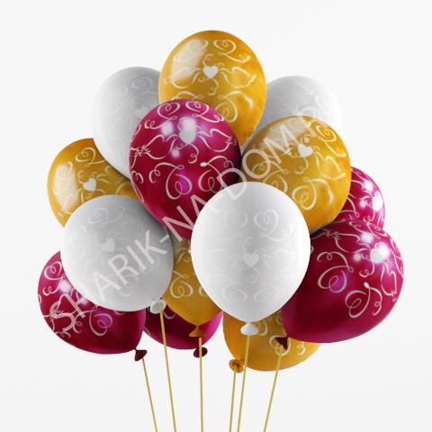 Шары на свадьбу Воздушные шары голуби и сердца Шары_голуби_и_сердца.jpg