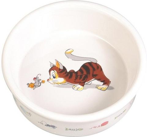 Trixie керамическая миска для кошек 200мл
