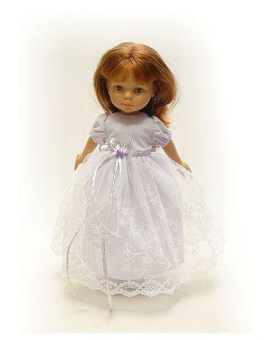 Платье кружевное - На кукле. Одежда для кукол, пупсов и мягких игрушек.