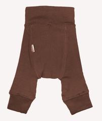 Пеленальные штанишки  длинные Babyidea Wool Longies, Коричневый (шерсть мериноса 100%)