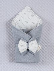 Демисезонный набор на выписку из роддома Маленькие стиляжки (серый)