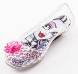 Шлепанцы Монстер Хай (Monster High) резиновые балетки для девочки, цвет прозрачный. Изображение 1 из 8.