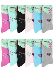 8084 Наташа носки женские 37-41 (12 шт.) цветные