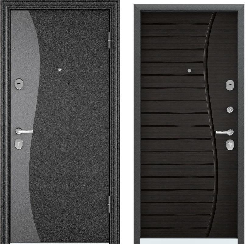 Входные двери Torex Torex Delta M LUX Color SP-8G чёрный шёлк D-8 ПВХ венге поперечное generated_image-6.jpg