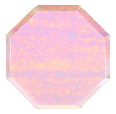 Большие радужные восьмиугольные тарелки